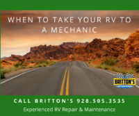 when to take your RV to a mechanic